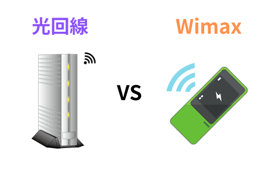 wimaxと光回線