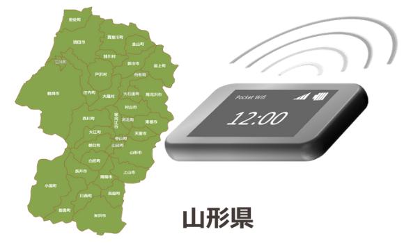 山形県のモバイルwi-fiルーターの通信