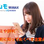 カシモ WiMAXの口コミや評判からわかったおすすめできる理由