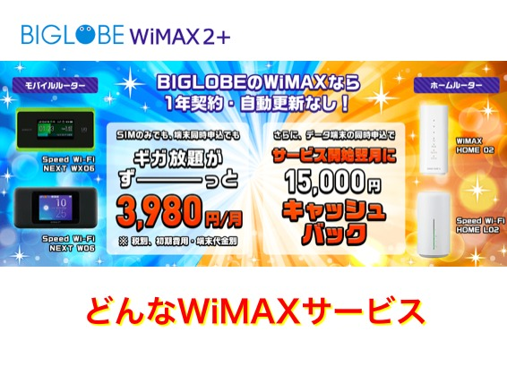 BIGLOBE WiMAXとは
