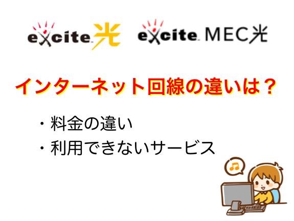 エキサイト光とMEC光の違い